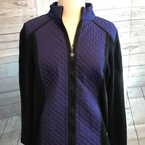 Catherine's black and blue quilted Jacket size 1X!